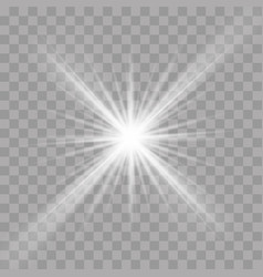 light rays flash radiance effect star ray vector image
