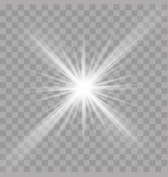 Light rays flash radiance effect star ray vector