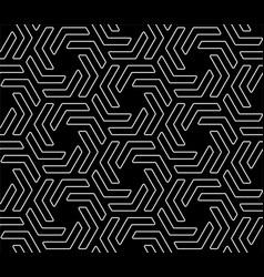 Line art hexagonal seamless pattern vector