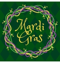 mardy gras green background vector image