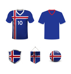 Mockup group d football jersey concept vector