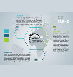 modern colorful infographics with hexagon vector image
