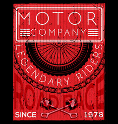 motor cycle poster graphic design vector image