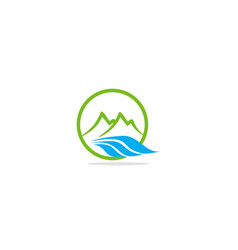 mountain nature water logo vector image