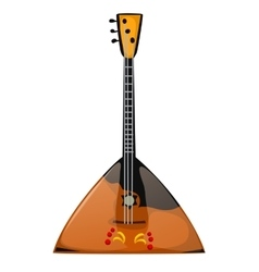 Musical instrument balalaika on a white background vector