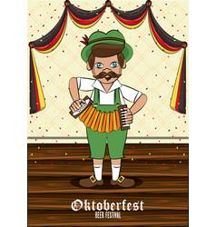 Oktober fest card vector