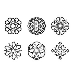 Ornamental round celtic frame set 05 vector