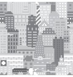 Pixel art city seamless pattern vector