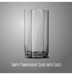 Realistic glass isolated on gray Transparent for vector image
