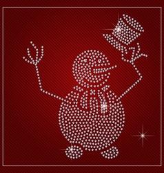 Rhinestone Holiday Season Template vector