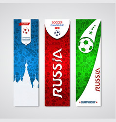 Russia banner template set for event vector