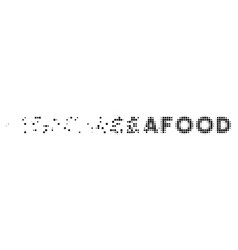 Seafood text decomposed pixel icon vector