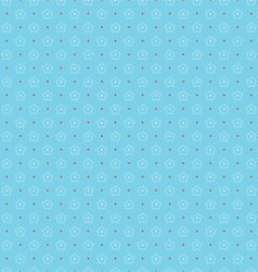 Seamless pattern of outlines white flowers and vector image