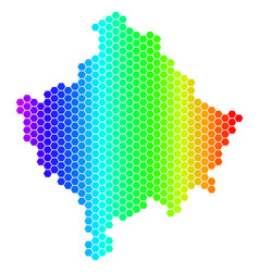 Spectrum hexagon kosovo map vector