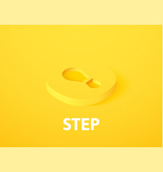 step isometric icon isolated on color background vector image