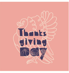 thanksgiving banner concept background simple vector image
