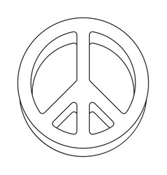 the icon of the worldhippy single icon in outline vector image