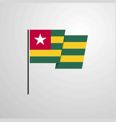 togo waving flag design background vector image