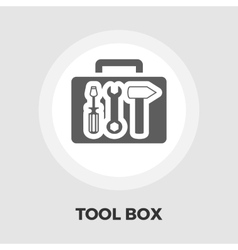 Tool box icon flat vector image