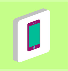 touch phone smartphone computer symbol vector image