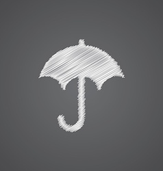 Umbrella sketch logo doodle icon vector