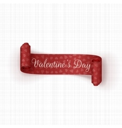 Valentines Day red Banner with Hearts Pattern vector