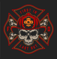Vintage firefighting colorful logotype vector