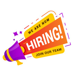 We are hiring banner recruitment and work vector