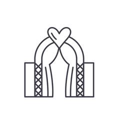 wedding line icon concept wedding linear vector image