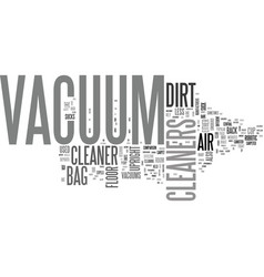 which vacuum cleaner let s suck it and see text vector image