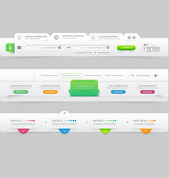 Business Website template infographic design menu vector image vector image