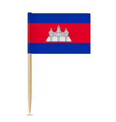 flag of cambodia flag toothpick on white vector image vector image