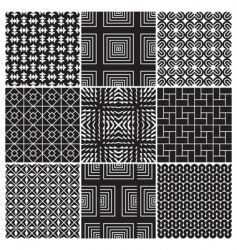 monochrome patterns vector image vector image