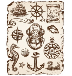 Nautical set vector
