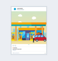 photo frame inspired by instagram for sharing vector image