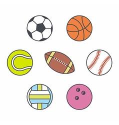Set of balls vector image