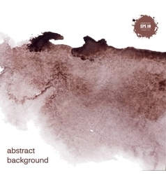 Abstract watercolor grunge brown background vector image