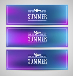 Blurred banners vector image vector image