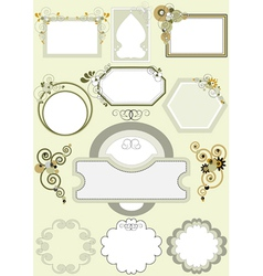 Frames with different patterns of curves vector image vector image