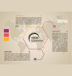 Modern colorful infographics with hexagon vector