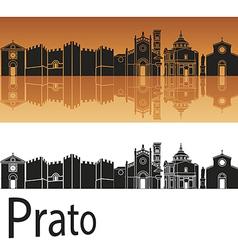 Prato skyline in orange background vector image vector image