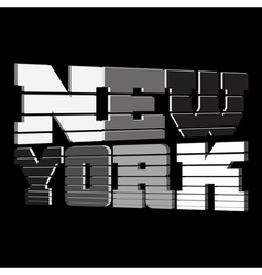 T shirt New York black white gray vector image vector image