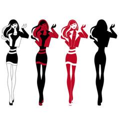 abstract slender girl vector image