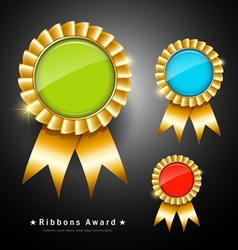 Collections colorful ribbons award vector image vector image