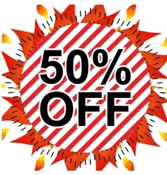 Sale 50 percents off vector image