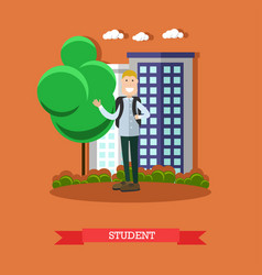 student concept in flat style vector image vector image