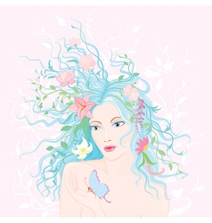 Spring lady vector image