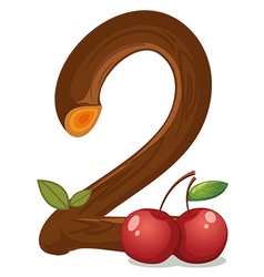 Two cherries vector image vector image