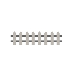 Wooden fence garden wall picket vector image