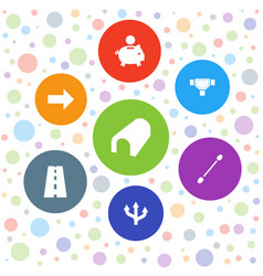 7 path icons vector